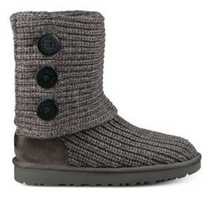 UGG #5819 Classic Cardy Gray Knit Sweater Boot